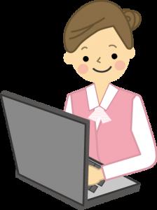パソコン仕事女性